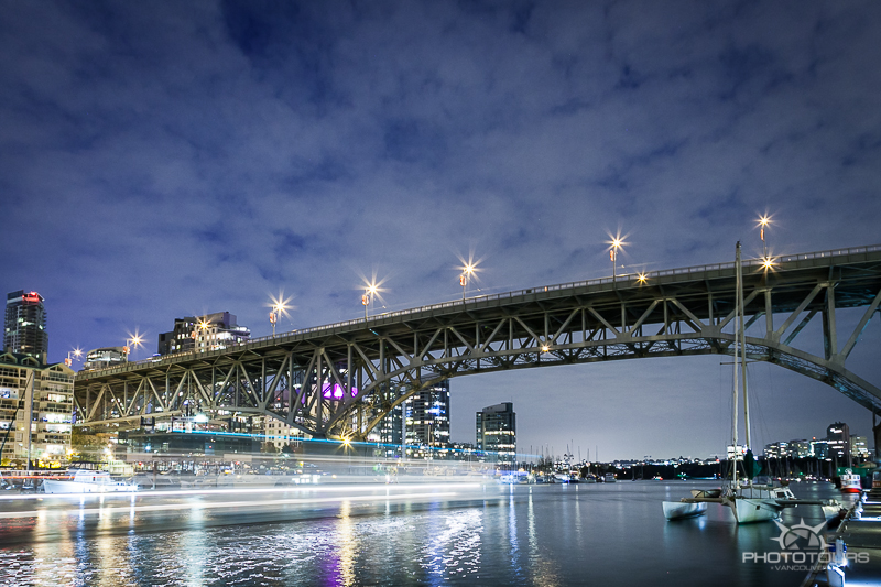 Granville Island at night. Photo Tours Vancouver photography by Aura McKay