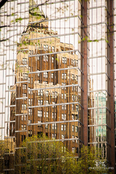 Photo Tours Vancouver downtown architecture reflection of Marine Building by Aura McKay