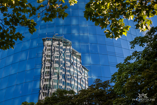 Photo Tours Vancouver archtiecture reflections in the city of glass by Aura McKay