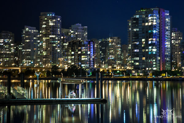 Photo Tours Vancouver city skyline at night from Olympic Village