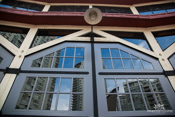 Photo Tours Vancouver the Roundhouse windows by Aura McKay - architecture and lines.