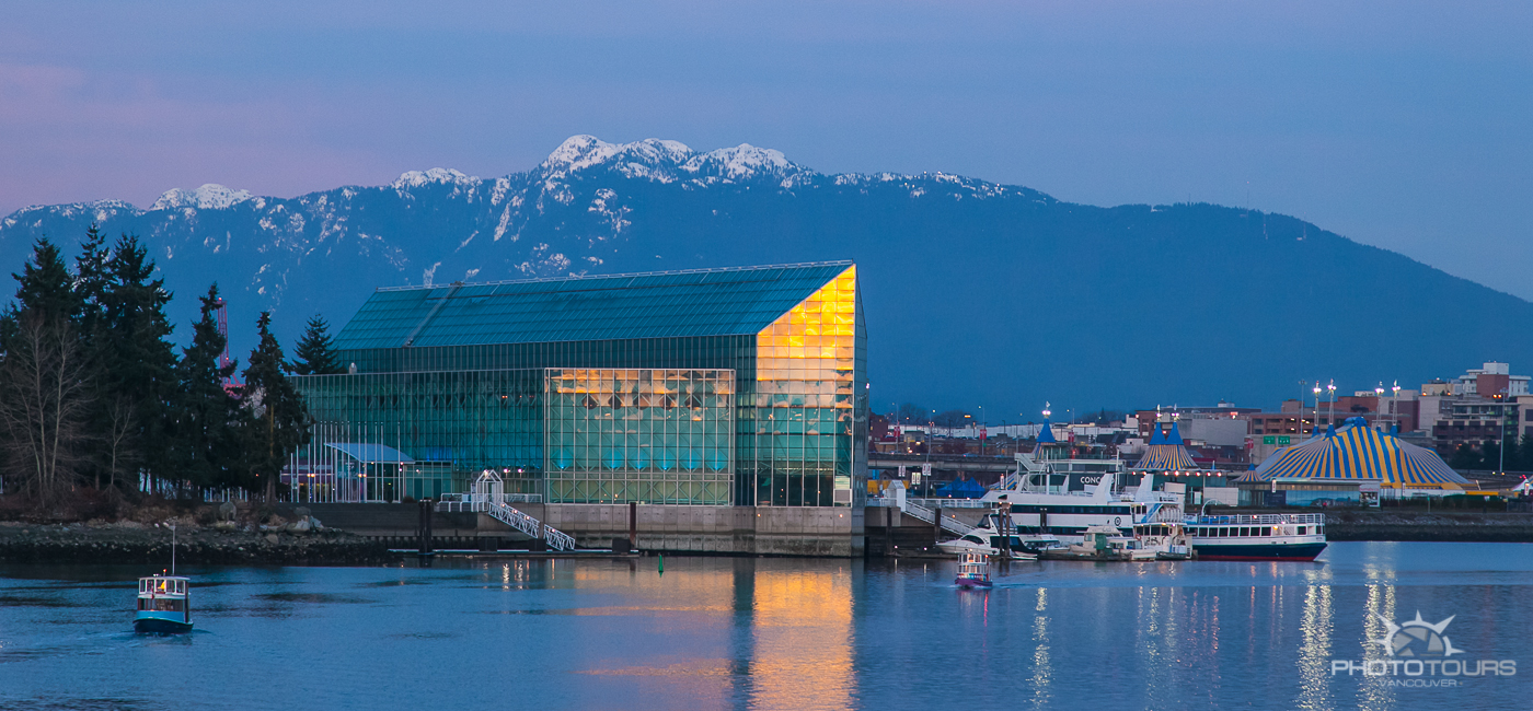 Photo Tours Vancouver image of North Shore Mountains from Fasle Creek at twilight by Aura McKay
