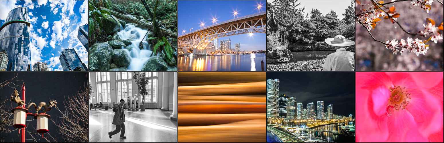 Photo Tours in Vancouver with local photography expert, multiple destinations, nature, landscapes, night photography, street photography