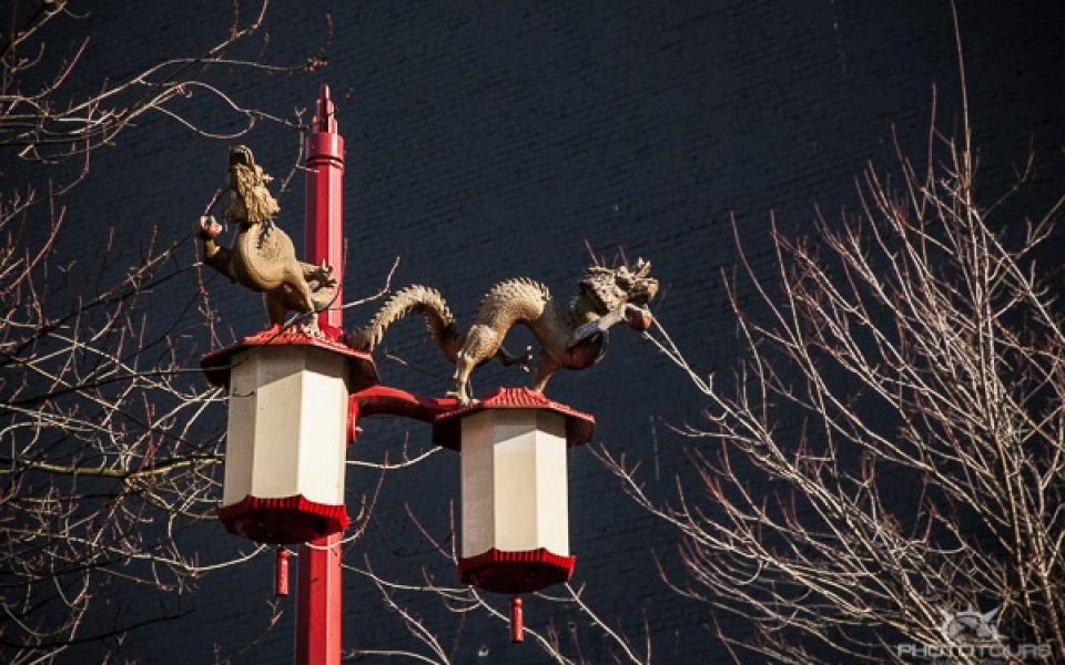 Photo Tours Vancouver dragon lamp post in Chinatown by Aura McKay