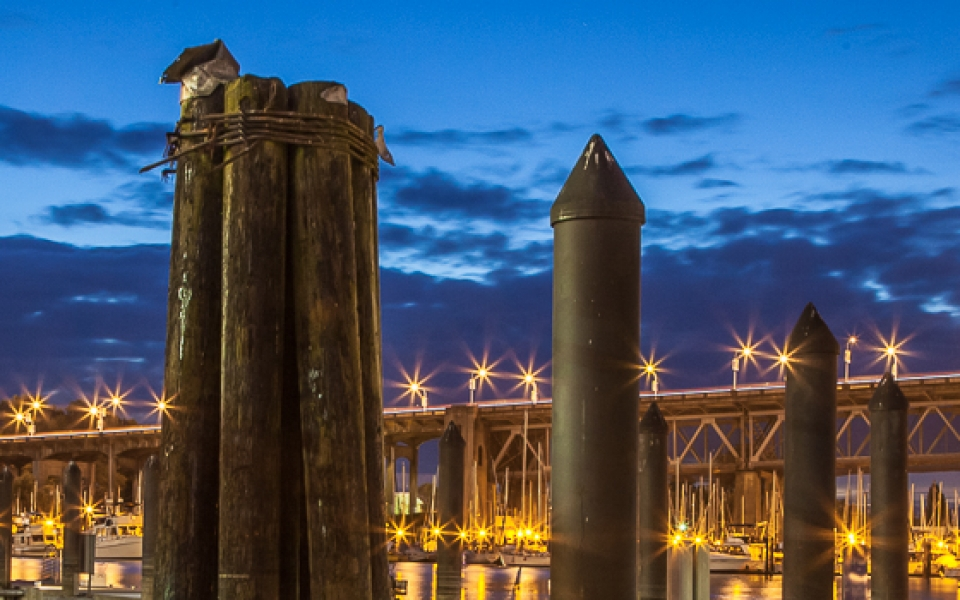 Photo Tours Vancouver - Burrard Bridge at night by Aura McKay