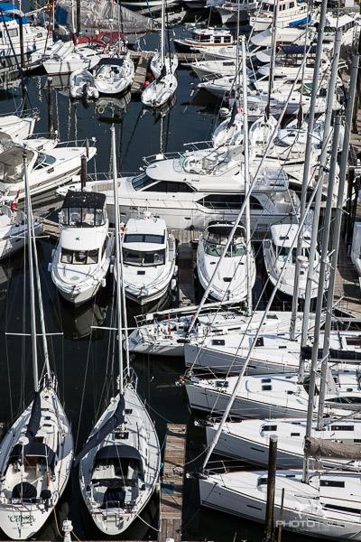 Photo Tour Vancouver boats in Granville Island harbour by Aura McKay